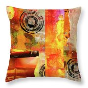 Reconstruction Abstract Throw Pillow