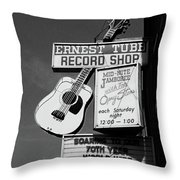 Record Shop- By Linda Woods Throw Pillow