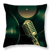 Recording Studio Art Throw Pillow