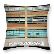 Records Storage- Nashville Photography By Linda Woods Throw Pillow