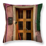 Rectangle Iterations Door Broom And Bucket_dsc5127_03042017 Throw Pillow