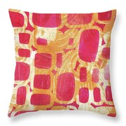 Rectangles And Jangles Throw Pillow