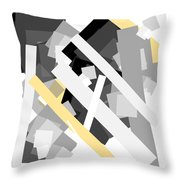 Rectangles With Yellow Accent Throw Pillow