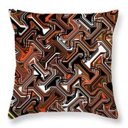 Recurring Pattern Abstract Throw Pillow