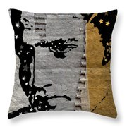 Recycled Elvis Paper Throw Pillow