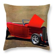 Red 1932 Ford Hot Rod  Throw Pillow
