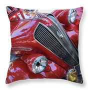 Red 1938 Plymouth Throw Pillow
