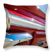 Red 1960 Chevy Low Rider Throw Pillow