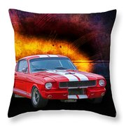 Red 1966 Mustang Fastback Throw Pillow