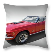 Red 1970 Mach 1 Mustang 351 Cleveland Throw Pillow