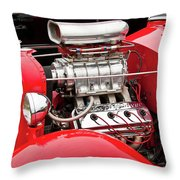 Red 1992 Throw Pillow