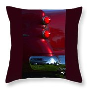 Red 50's Classic Tail Light Throw Pillow