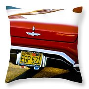 Red '57 T-brid Throw Pillow