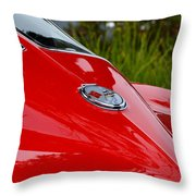 Red 63 Vette Throw Pillow