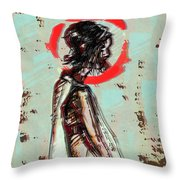 Red 7 Throw Pillow