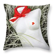 Red #7127 Throw Pillow