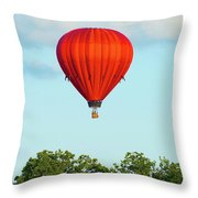 Red Above The Trees Throw Pillow