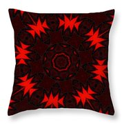 Red Abstract 031211 Throw Pillow