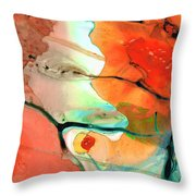 Red Abstract Art - Decadence - Sharon Cummings Throw Pillow
