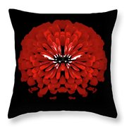 Red Abstract Flower One Throw Pillow