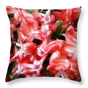 Red Abundance Throw Pillow
