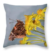 Red Admirable Butterfly Throw Pillow