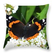 Red Admiral - Topwings Throw Pillow