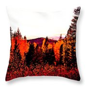 Red   Adventure  Throw Pillow
