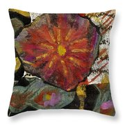 Red Affection Throw Pillow by Angela L Walker