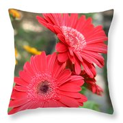 Red Afternoon Throw Pillow