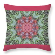 Red Amaryllis Trio Kaleidoscope Throw Pillow