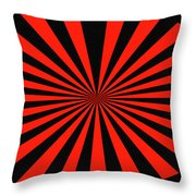 Red And Black Abstract #3 Throw Pillow