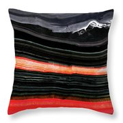 Red And Black Art - Fire Lines - Sharon Cummings Throw Pillow