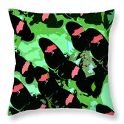 Red And Black Beauties Throw Pillow