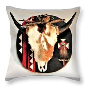 Red And Black Buffalo Design Throw Pillow