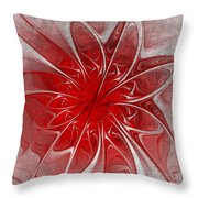 Red And Black  -f D- Throw Pillow