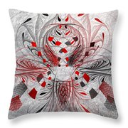 Red And Black -f E- Throw Pillow