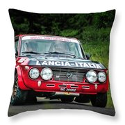 Red And Black Lancia Fulvia Throw Pillow