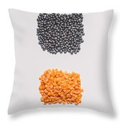 Red And Black Lentils Throw Pillow