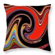 Red And Black Stream  Throw Pillow