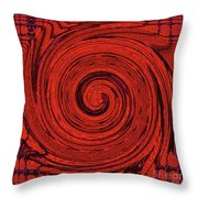 Red And Black Swirl - Modern/contemporary Painting Throw Pillow