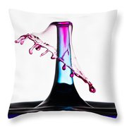 Red And Blue Collision Throw Pillow