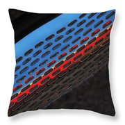 Red And Blue Shine Throw Pillow