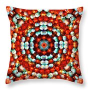 Red And Blue Stones Throw Pillow
