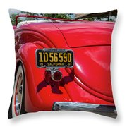 Red And Chrome Throw Pillow