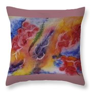 Red And Friends Throw Pillow