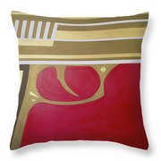 Red And Gold Gun  Throw Pillow