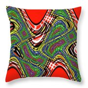 Red And Green Thing Throw Pillow