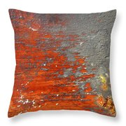 Red And Grey Abstract Throw Pillow