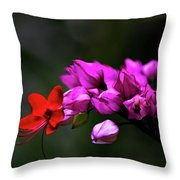 Red And Pink Throw Pillow